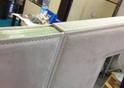 lavorazione pannelli rivestiti in majilite per creazione murate interni mega yatch di lusso